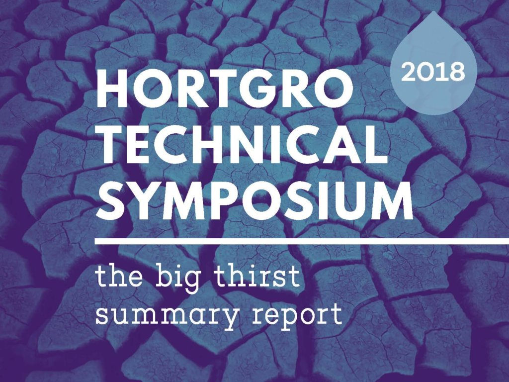 Hortgro Technical Symposium Big Thirst Summary Report 2018