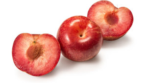 Red Plums Pitted