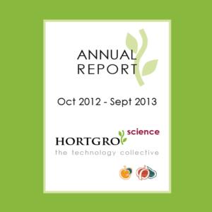 Hortgro Science Annual Report 2012 2013