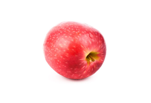 Red Apples Pink Lady (malus Domestica Cripps Pink) Isolated On White Background. Organic Fruits For A Healthy Diet And Lifestyle